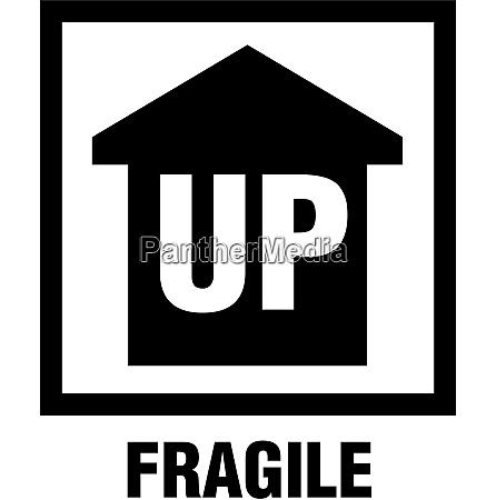 questo lato in su fragile