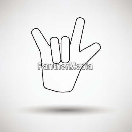 rock hand icon rock hand icon