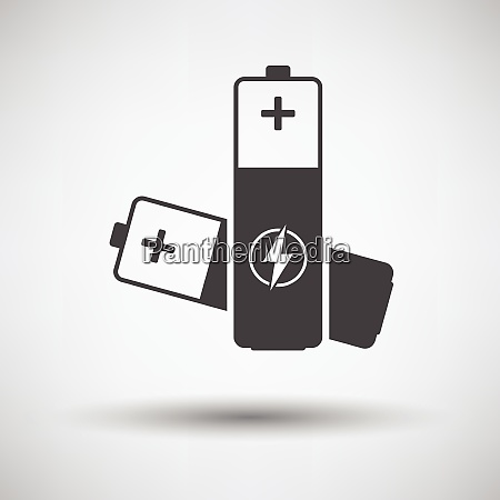 electric battery icon on gray background