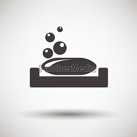 soap dish icon on gray background