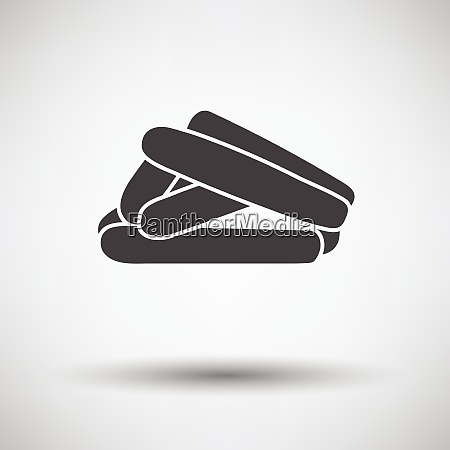 sausages icon on gray background round