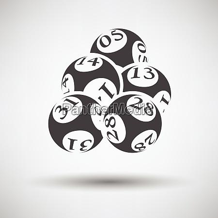 lotto balls icon on gray background