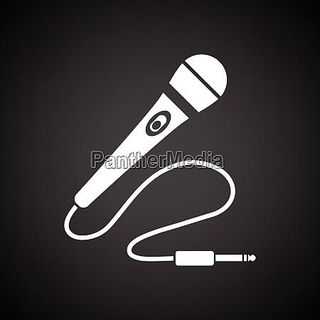 karaoke microphone icon black background