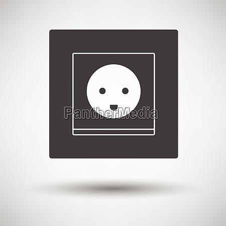 austria electrical socket icon on gray