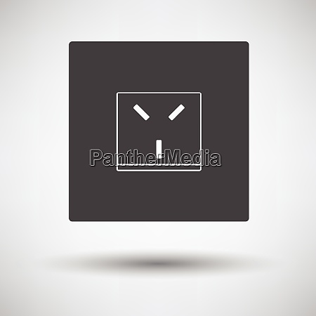 israel electrical socket icon on gray