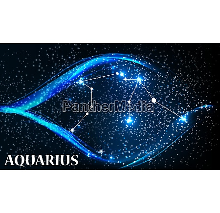 symbol aquarius zodiac sign vector illustration