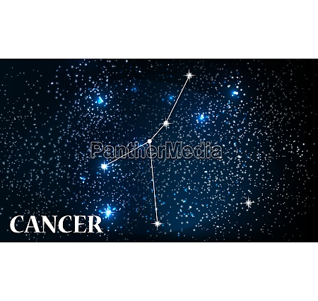 symbol cancer zodiac sign vector illustration