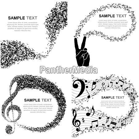 set of musical design elements from