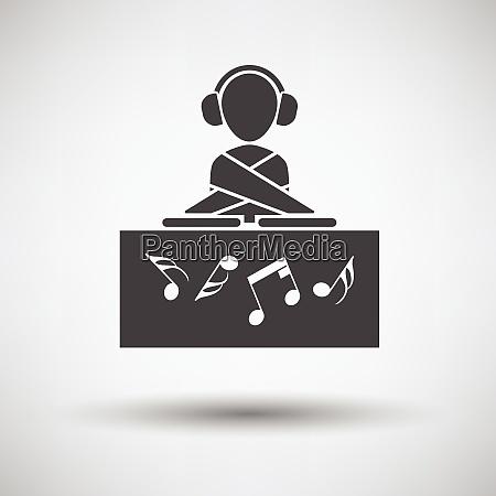 night club dj icon on gray