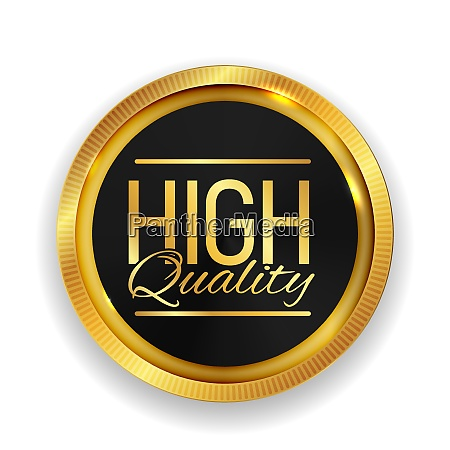 high quality golden medal icon seal