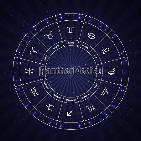 set of symbol zodiac sign vector