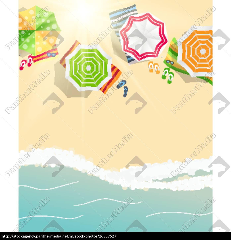 tło, czasu, letniego., sunny, beach, w - 26337527
