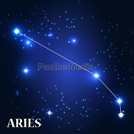 symbol aries zodiac sign vector illustration