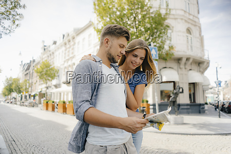 netherlands maastricht happy young couple exploring