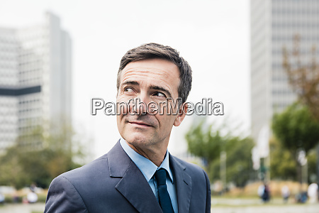 portrait of confident businessman in the