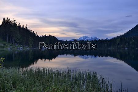 germany bavaria berchtesgadener land lake hintersee