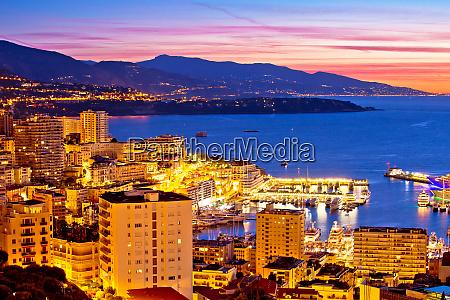 widok na miasto monte carlo kolorowy