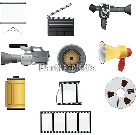 kolekcja ilustracji wektorowych do kina i