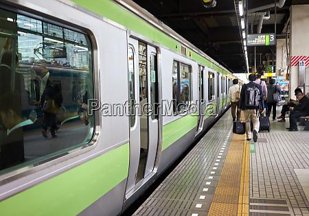 a tokyo subway train at a