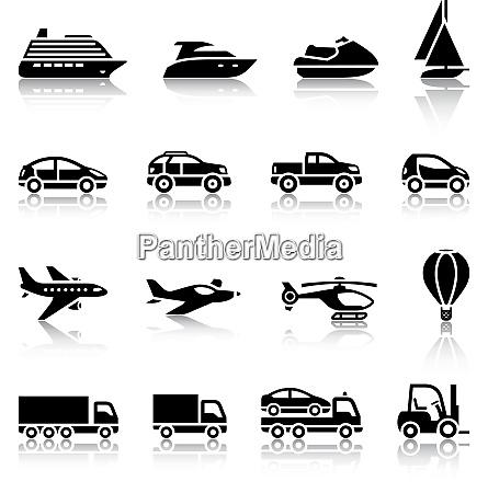 zestaw znakow transportowych