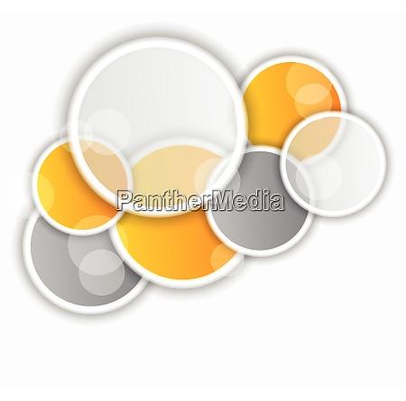 tlo z pomaranczowymi i szarymi kolkami