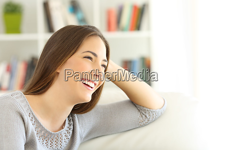 pensive girl looking away on a