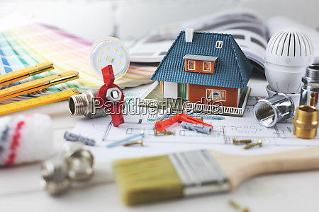 house building and repair concept