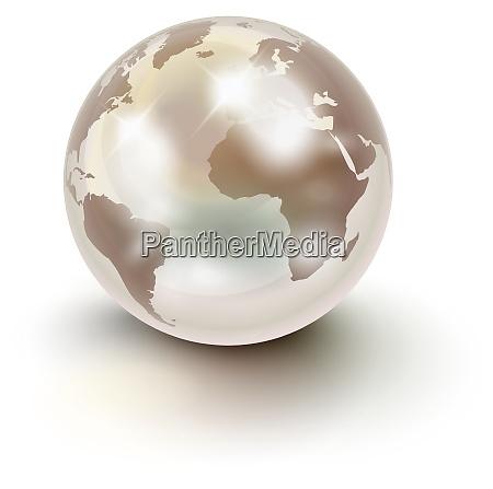 precious earth like a white pearl
