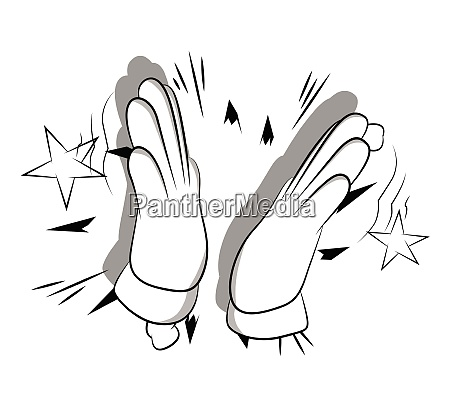 vector cartoon hand clapping