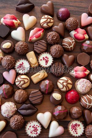 asortyment pysznych czekoladki