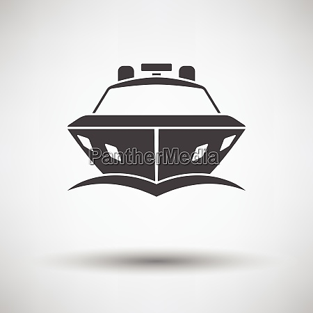 motor yacht icon front view