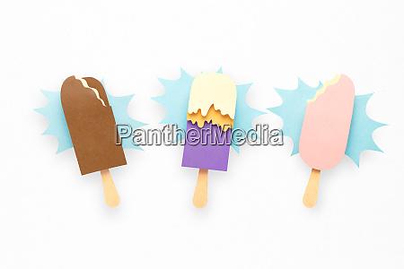 paper ice cream splash