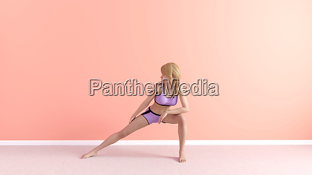 stretch joga pose