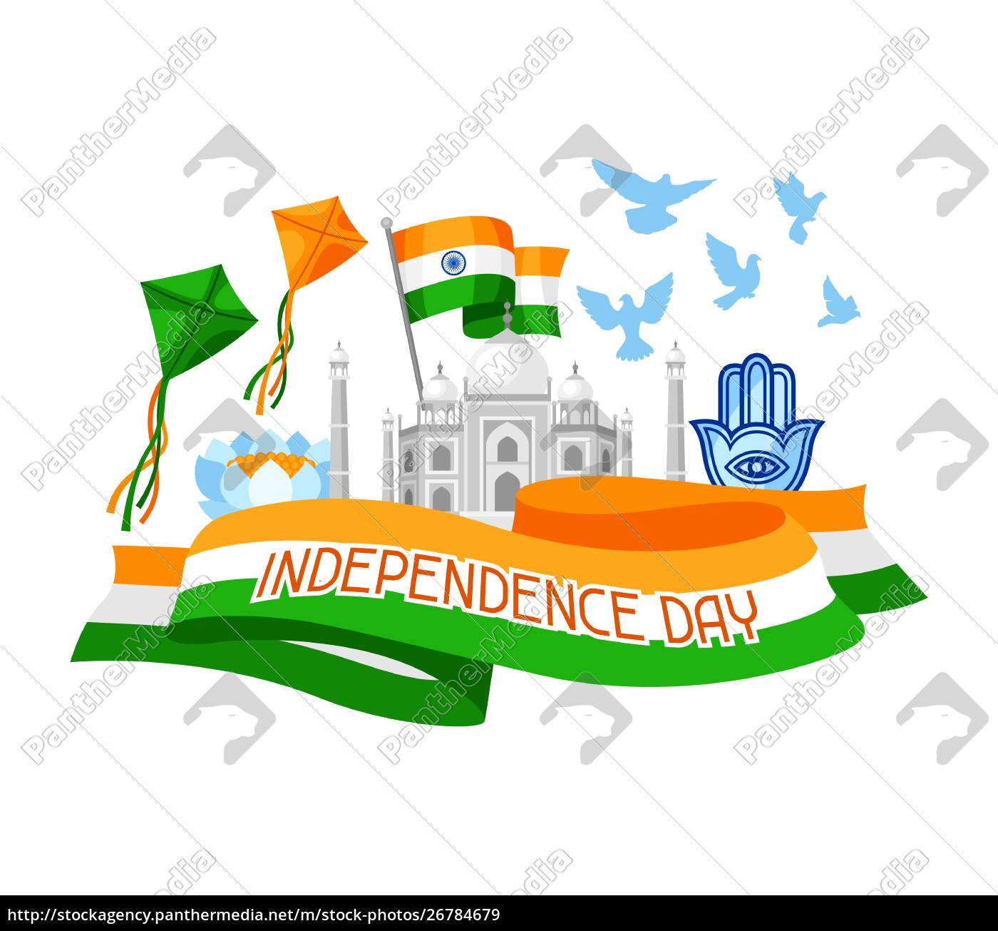india, independence, day, greeting, card., celebration - 26784679
