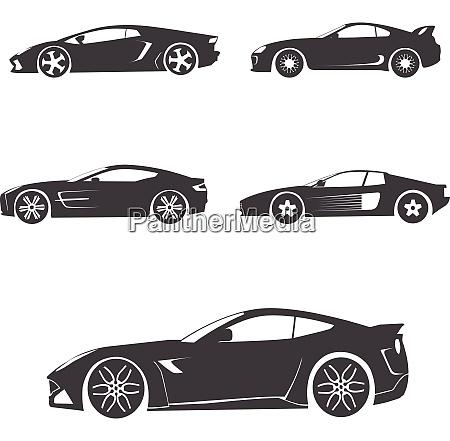 sports car vector silhouette sports car