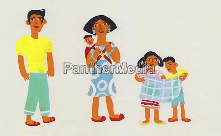 portret rodziny dzieje sie na wycieczke
