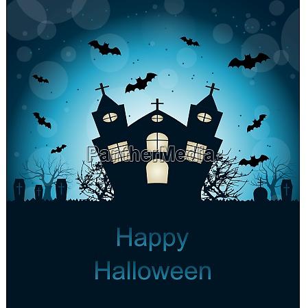 ilustracja halloween abstrakcyjna kartka z zyczeniami