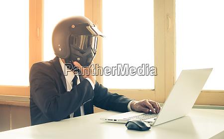 vintage ai artificial intelligence businessman concept