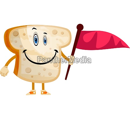 bread with flag illustration vector on