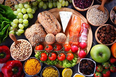rozne produkty zywnosci ekologicznej na stole