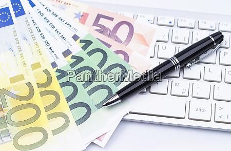 dlugopis bankiery banknoty biznes ikony biznesowe