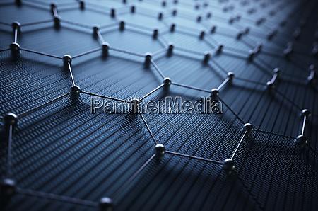 graphene hexagonal atomic connection nauka technologia
