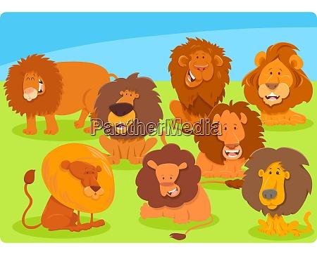 postacie grupa kreskowka lwy zwierze