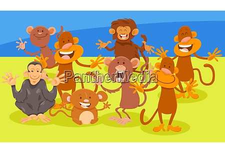 grupa kreskowka malpy postac zwierze