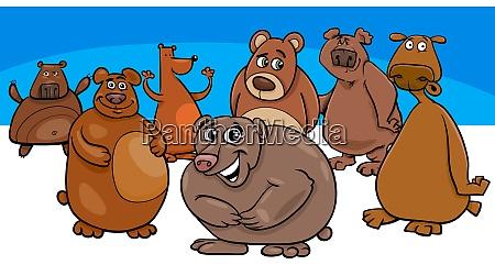 postacie grupa kreskowka niedzwiedzie zwierze