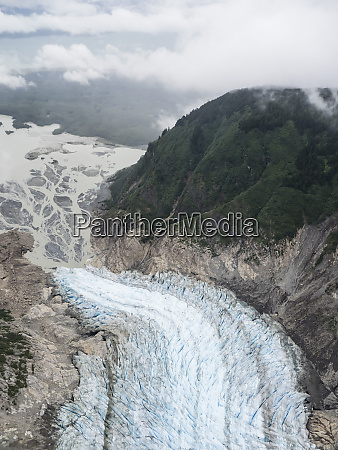 aerial view of the davidson glacier