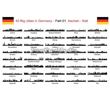 40 duze miasta w niemczech
