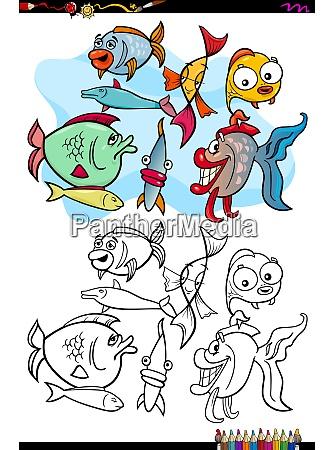 grupa znaki zwierzat ryba ksiazka