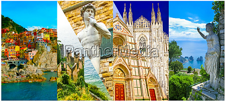 collage of photos in italy