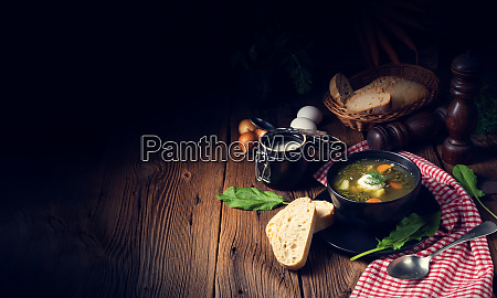 zupa, rustikal, sorrel, z, ziemniakami, i - 27123028